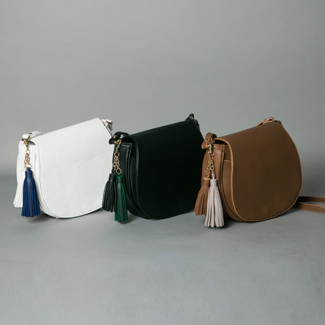 《WITH3月号掲載》《CLASSY.1月号掲載》【Tassel mini bag】レディース タッセル バッグ*SALE品につき返品/交換/注文確定後の変更キャンセル不可*