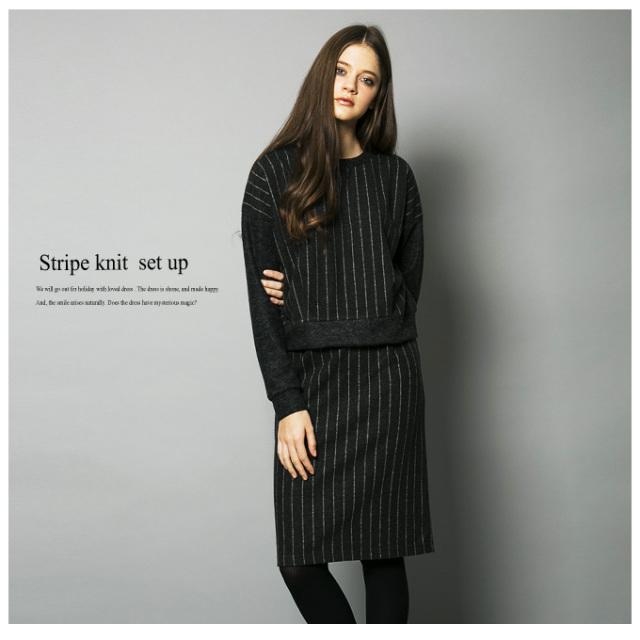 【Stripe set up】レディース ストライプ セットアップ