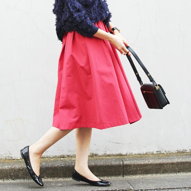 4月19日午前0:00再販!≪andGIRL 11月号掲載≫【Asymmetry tuck skirt】レディース アシンメトリー スカート