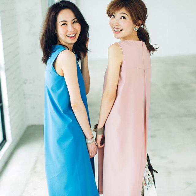 ≪BAILA11月号掲載≫5月29日午前0:00再販!Noriko & Michiko Spring collaboration【Simple one piece】レディース  ワンピース