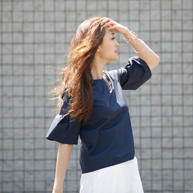 8月7日午前0:00再販!≪CLASSY.7月号掲載≫【Flare sleeve tops】レディース  フレア トップス