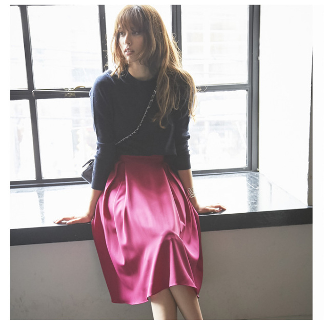 12月18日午前0:00再販【Tuck mimore skirt】レディース ミモレ スカート