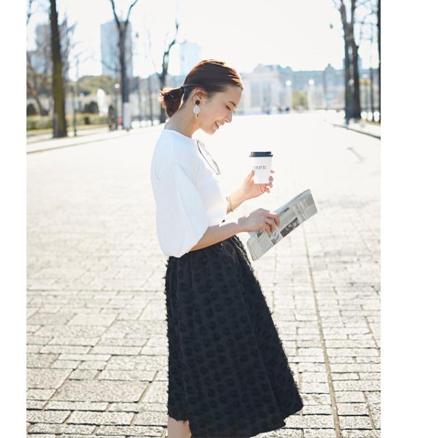 ≪JJ2月号掲載≫2月28日午前0:00再販【Jacquard skirt】レディース ジャガード スカート