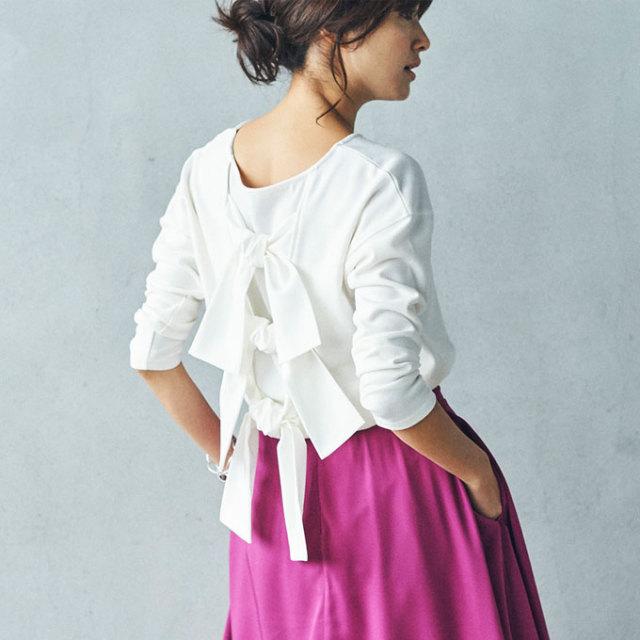 《InRed 2月号掲載》1月13日午前0:00新色&再販【Back ribbon tops】レディース  リボン トップス