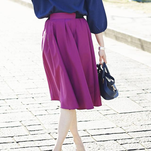 JJ1月号掲載2月21日午前0:00再販【Tuck mimore skirt】レディース  タック ミモレ スカート