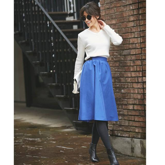 JJ1月号掲載1月8日午前0:00再販【Tuck mimore skirt】レディース  タック ミモレ スカート
