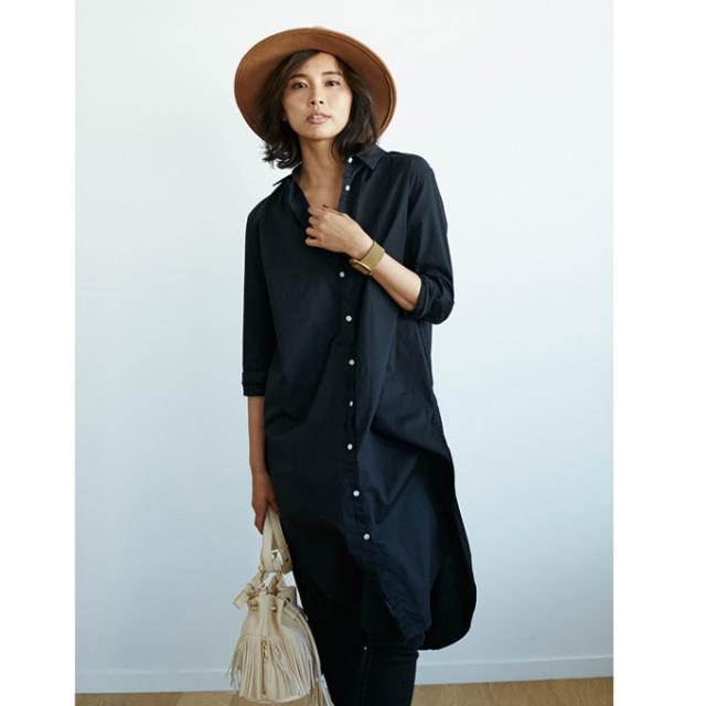 【Long shirt one piece】レディース  シャツ ワンピース