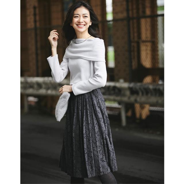 【Lace pleats skirt】レディース  レース プリーツ スカート*SALE品につき返品/交換/注文確定後の変更キャンセル不可*
