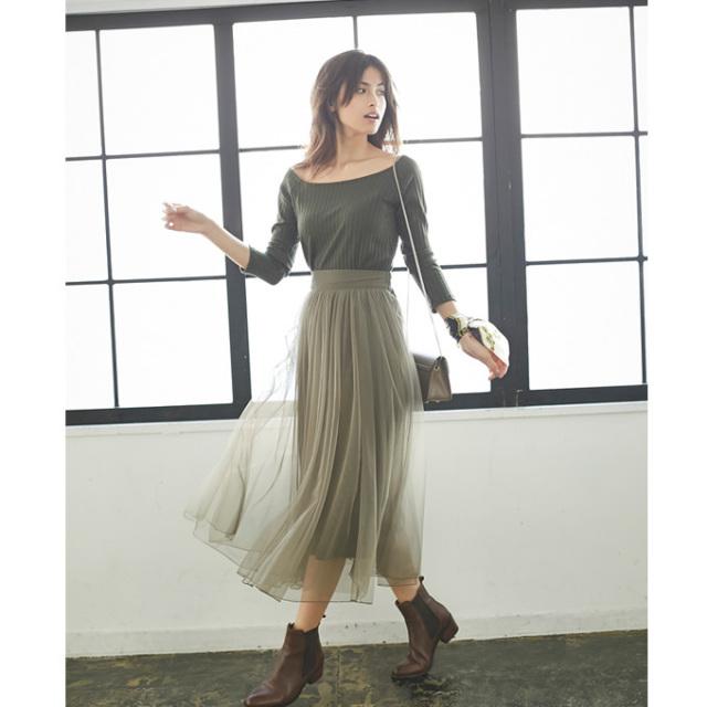 《saita3月号掲載》【Long tulle skirt】レディース チュール スカート