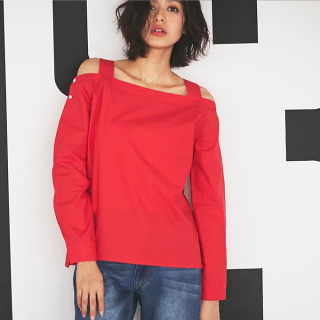 【Off shoulder blouse】レディース オフショル ブラウス