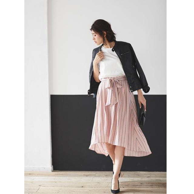 【Fish tale stripe skirt】レディース フィッシュテール ストライプ スカート