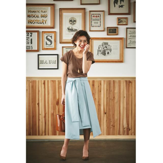 【Ribbon rap mimore skirt】レディース  ラップ スカート