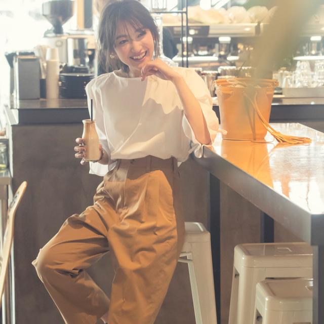 金子麻貴さん着用【Back ribbon volume blouse】   リボン ブラウス