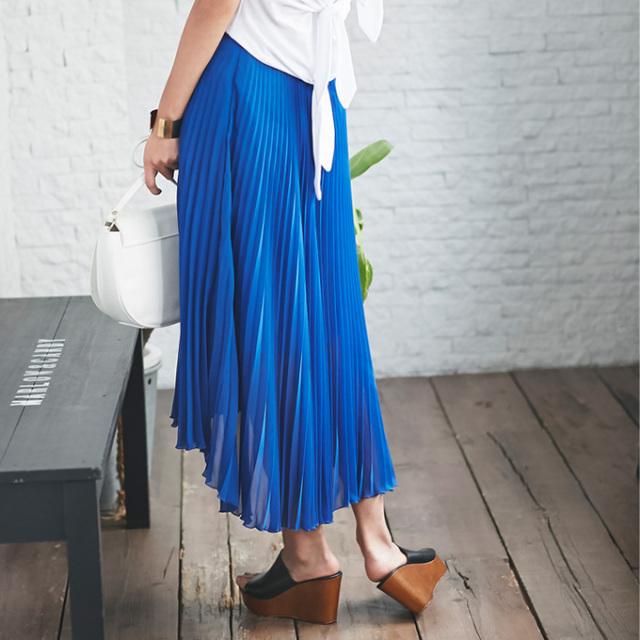 【Pleats fish tale skirt】レディース  プリーツ フィッシュテール スカート