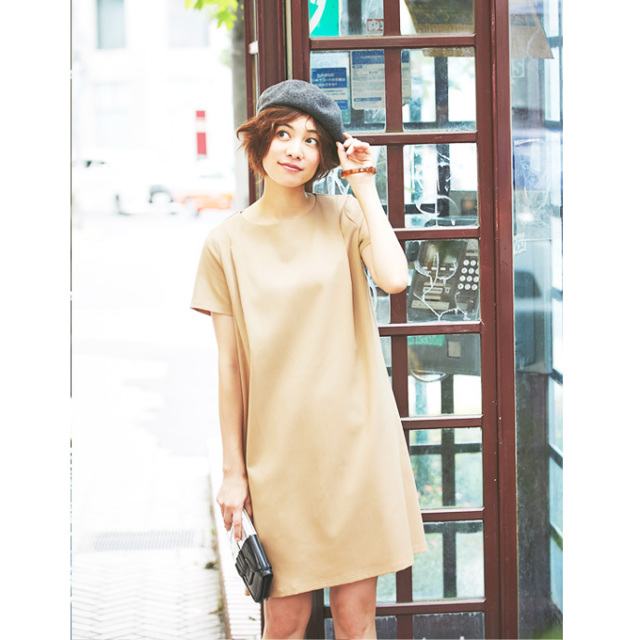 【Short sleeve basic one piece】ベーシック ワンピース