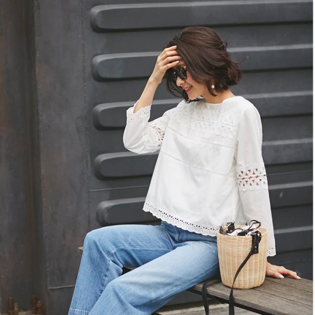 2月14日午前0:00再販!【Lace blouse】レディース レース ブラウス