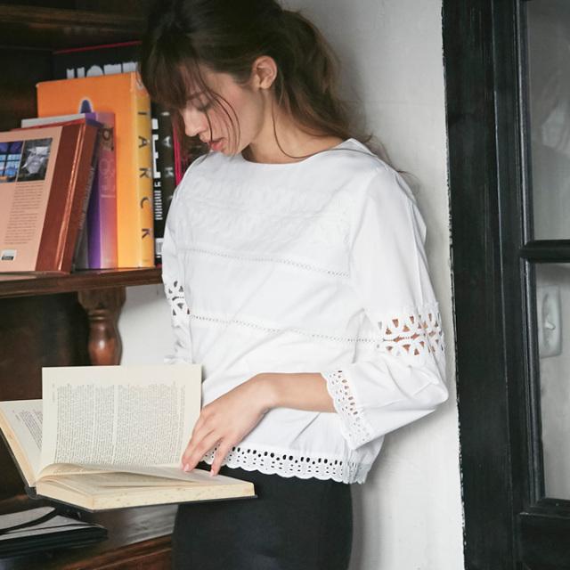9月11日午前0:00再販!【Lace blouse】レディース レース ブラウス