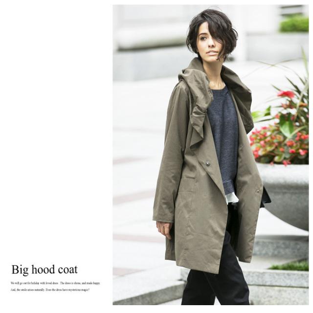 【Big hood coat】レディース フード コート