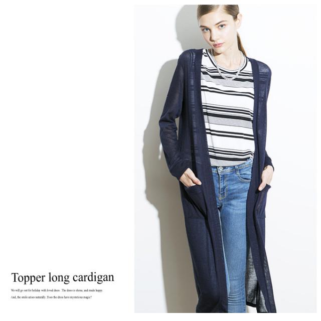 【Topper long cardigan】レディース ロング カーディガン