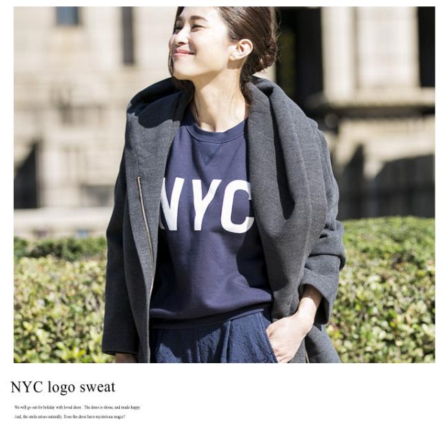 【NYC logo sweat】レディース ロゴ スウェット*SALE品につき返品/交換/注文確定後の変更キャンセル不可