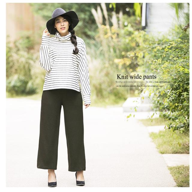 【Knit wide pants】レディース パンツ*SALE品につき返品/交換/注文確定後の変更キャンセル不可*