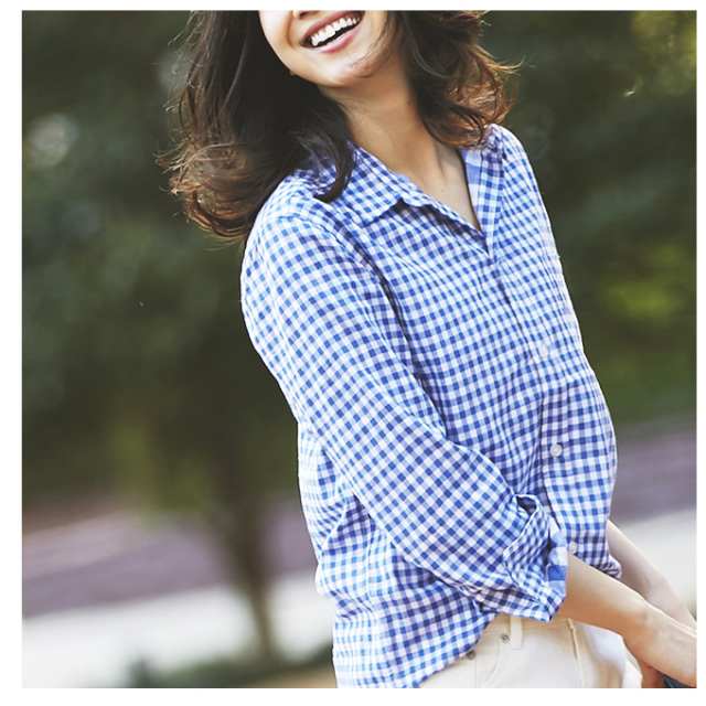 【Gingham check shirt】レディース ギンガム シャツ