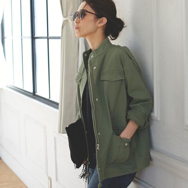 3月22日午前0:00再販!【Military jacket】レディース ミリタリー ジャケット