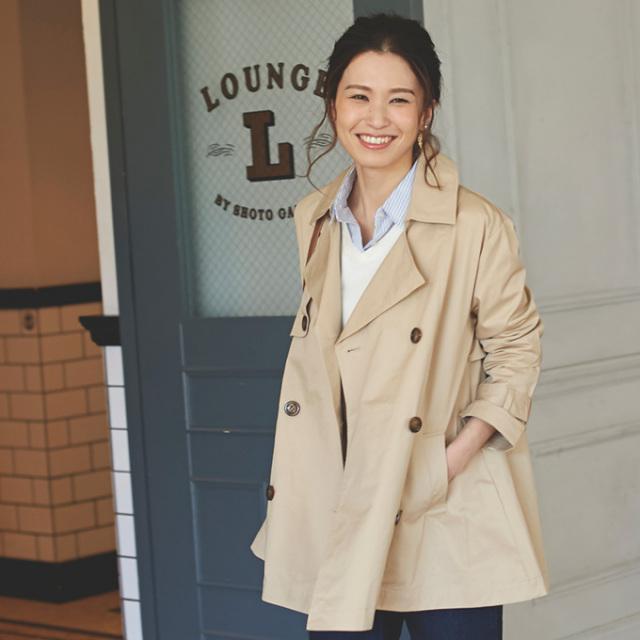 【Flare trench coat】レディース トレンチ コート *SALE品につき返品/交換/注文確定後の変更キャンセル不可*