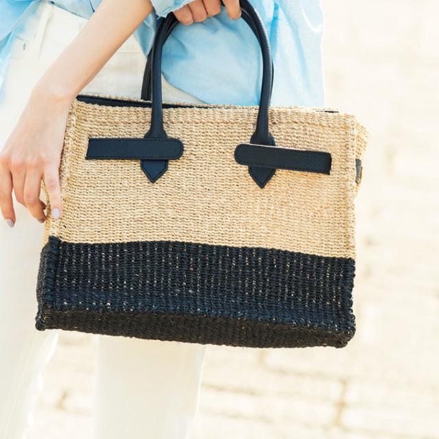 7月12日午前0:00再販!《with 8月号掲載》【Square basket bag】 かご バッグ