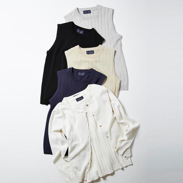 《美人百花7月号掲載》≪CLASSY.7月号掲載≫&.NOSTALGIA Luxe line【Knit emsemble】レディース アンサンブル ニット