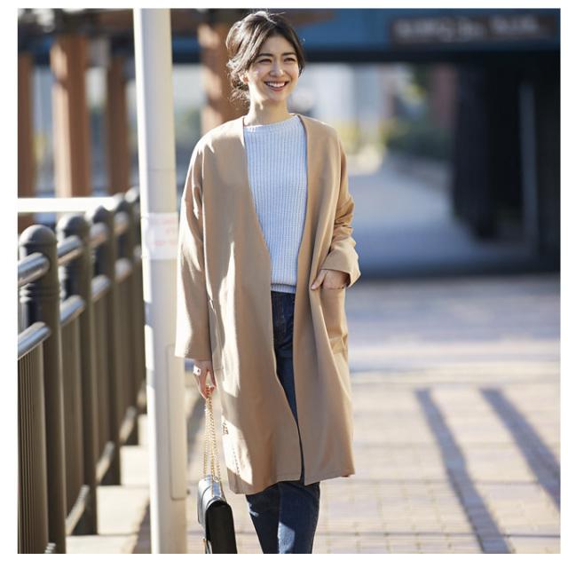 2月28日午前0:00再販【Collarless jacket】レディース ノーカラー コート