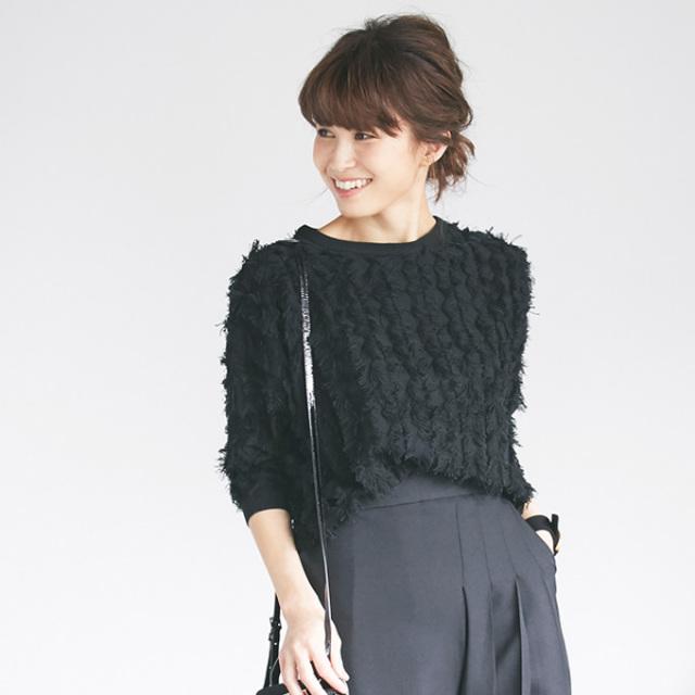 《JJ12月号掲載》12月6日午前0:00再販【Fringe knit tops】レディース フリンジ トップス