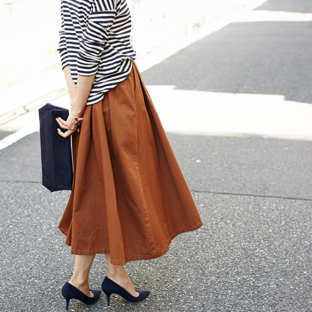 11月29日午前0:00オンライン先行再販【Tuck long skirt】レディース  タック スカート※店舗は12月3日(土)より順次入荷いたします。