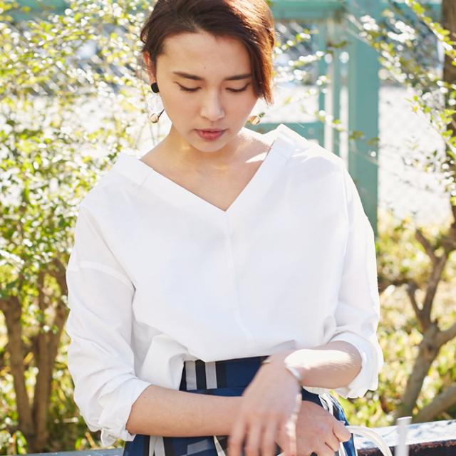 4月28日午前0:00再販!【V neck blouse】レディース Vネック ブラウス