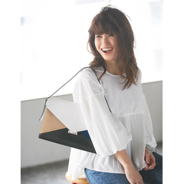 ≪andGIRL 11月号掲載≫【Pleats blouse】レディース プリーツ ブラウス