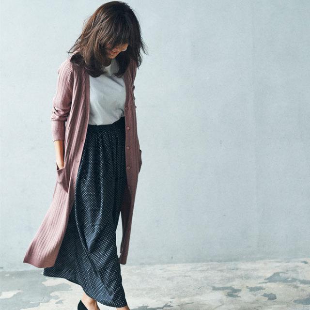 《JJ12月号掲載》【Dot print skirt pants】レディース  ドット スカンツ*SALE品につき返品/交換/注文確定後の変更キャンセル不可*