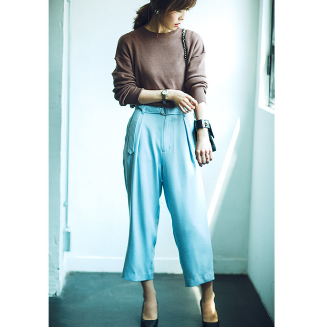 Noriko&Michiko Autumn Collabolation【Waist belt pants】