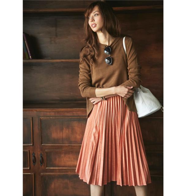 11月8日午前0:00再販《JJ2月号掲載》【Fake suede pleats skirt 】レディース プリーツ スカート