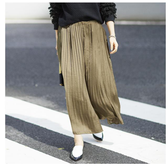 ≪GINGER12月号掲載≫【Pleats skirt gaucho】レディース  プリーツ スカーチョ