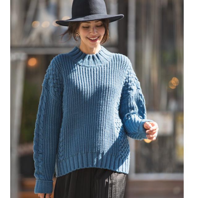 【Cable knit】レディース ケーブル ニット*SALE品につき返品/交換/注文確定後の変更キャンセル不可*