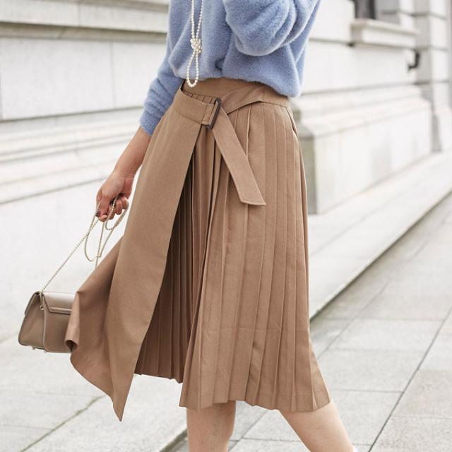 【Pleats skirt】レディース  プリーツ スカート