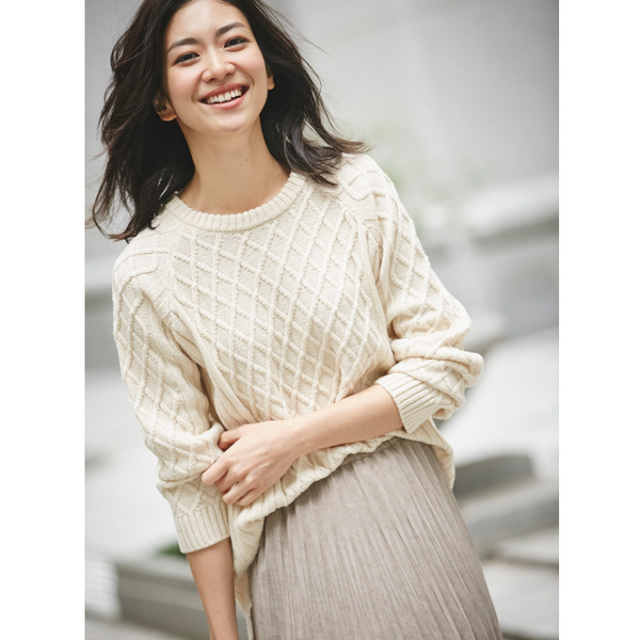【Diamond pattern knit】レディース  菱型 ニット *SALE品につき返品/交換/注文確定後の変更キャンセル不可*