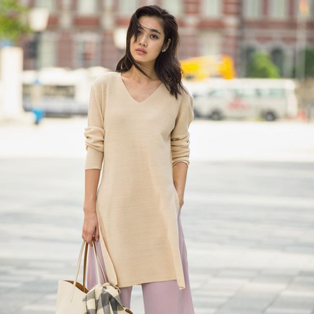 【Slit knit tunic】レディース  スリット ニット*SALE品につき返品/交換/注文確定後の変更キャンセル不可*