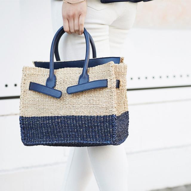 【Square basket bag (S) 】レディース  スクエア カゴバッグ