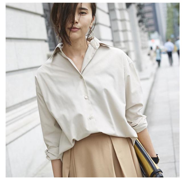 【2way design shirt】レディース  2way シャツ*SALE品につき返品/交換/注文確定後の変更キャンセル不可*