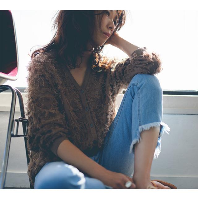 3月12日午前0:00新色&再販【Fringe knit cardigan】レディース フリンジ カーディガン
