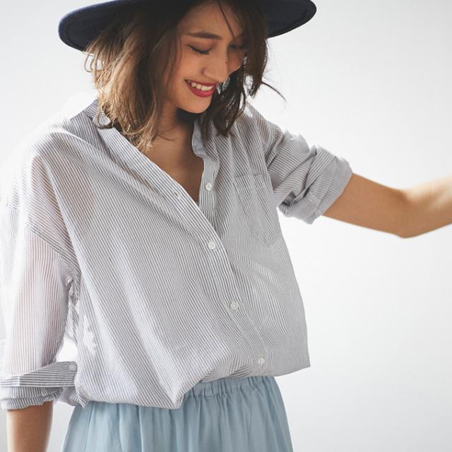 【Cache coeur 2way shirt】レディース  カシュクール シャツ