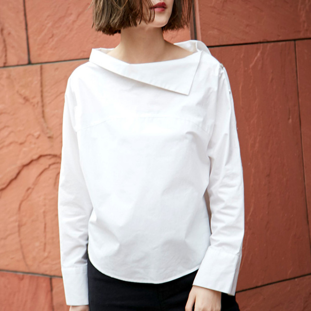 3月17日午前0:00再販【Design collar blouse】レディース デザイン衿 ブラウス