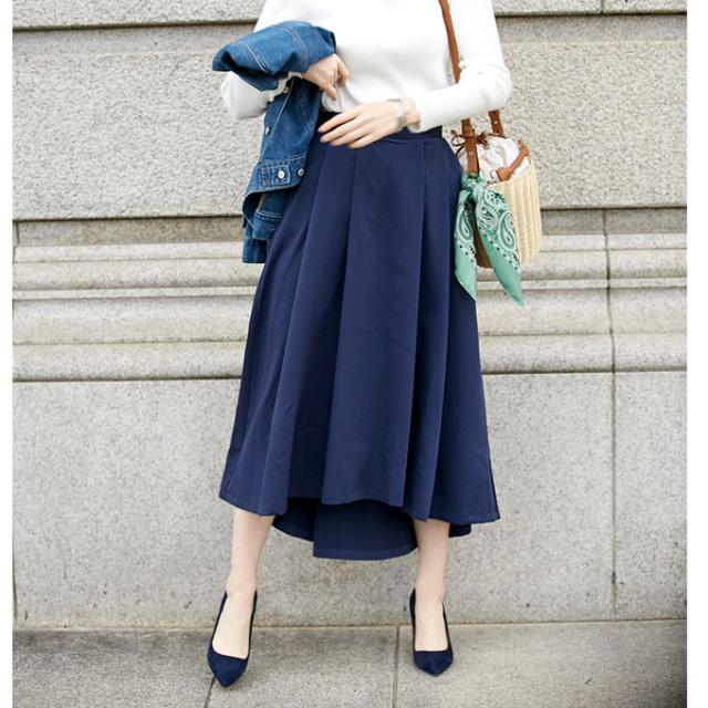 3月26日午前0:00再販【Tuck long skirt】レディース タック ロング スカート