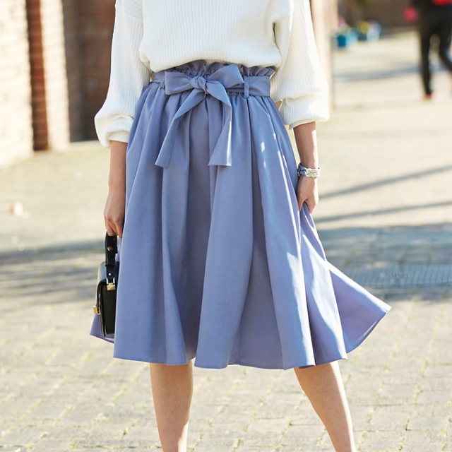 【Volume flare skirt】レディース ボリューム フレア スカート